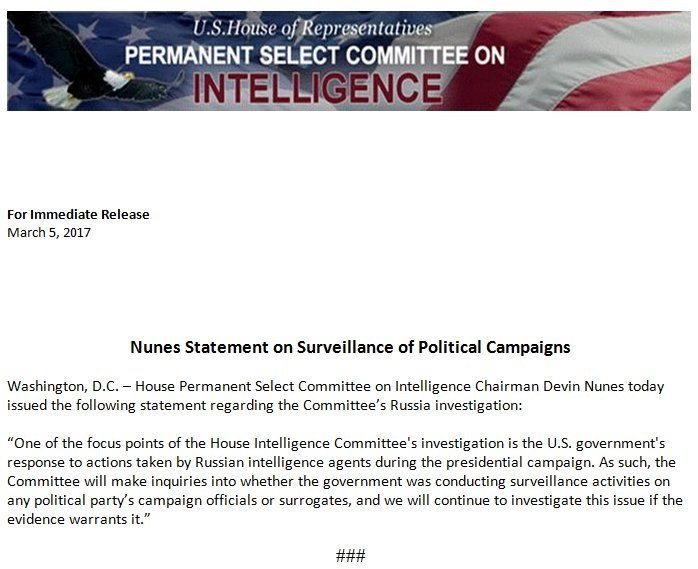 nunes statement